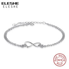 ELESHE 925 Sterling Silver Bracelets For Women Original Personality Girl Prevent Allergy Sterling-silver-jewelry