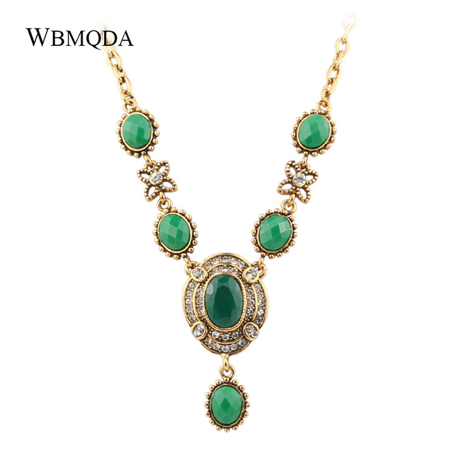 Wholesale Vintage Jewelry Bohemian Big Statement Necklace Women Fashion Gold Color Necklaces Pendants Gifts For Mothers Day
