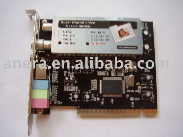 PCI TV Tuner Card with FM with Philips 7130 Chipset and Plug-and-Play Function, Supports Windows Vista  AE-TVP7130