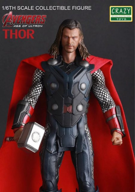 Crazy Toys Marvel Avengers Thor PVC Action Figure Collectible Model Toy 30cm