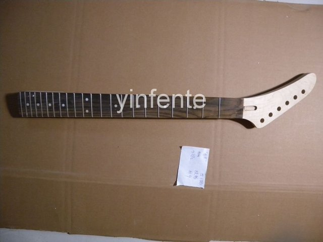 New High Quality Unfinished electric guitar neck Solid wood Body &  fingerboard J  model 1pcs #9