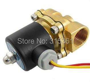 "Free Shipping 5PCS 3/4"" 2 Position Two Way Brass Solenoid Water Valve 2W-200-20 AC110V"