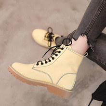 Women Ankle Boots Winter Warm Riding Equestr Shoes Woman Fur Inside Artificial Leather Lace Up Shoes Platform Zapatos De Mujer
