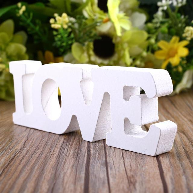 "Wooden Letter Alphabet Word Free Standing ""LOVE"" Letter Word Home Decoration Accessories Wedding Party Birthday Wood Letters"