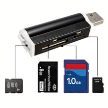 NEW SY-662 USB 2.0 All in 1 Multi Memory Card Reader For TF Micro SD MMC SDHC M2 Memory Stick MS Duo RS-MMC + Retail Package