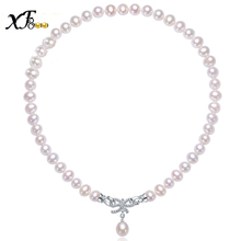 JYX Pearl Necklace 11-15mm White Baroque Freshwater Cultured Pearl Necklace for Women 18