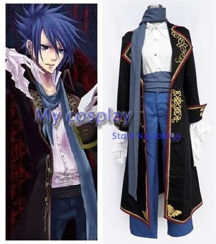 Vocaloid Cosplay Kaito Costume For Men's Cosplay Costumes Coat For Halloween