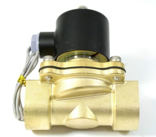 Free Shipping 5PCS G1'' Irrigation Water Brass Valves Solenoids 2W250-25 AC 220V