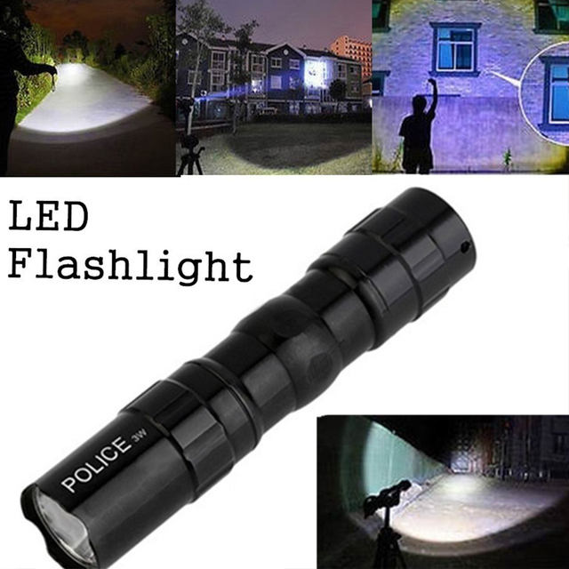 LED Flashlight 3W Climbing SuperBright Torch Tactical Military Waterproof Portable Emergent Lamp Drop Shipping
