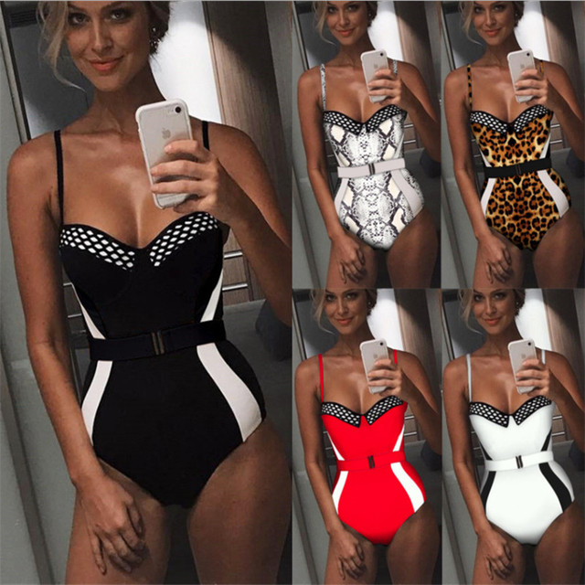 Sexy Bandeau Body Suits Swimwear 2019 Female Push Up Swimsuit Monokini One Pieces Swimming Suit for Women Summer Sports Tankini