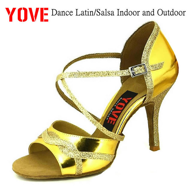 YOVE Style w1610-32 Dance shoes Bachata/Salsa Indoor and Outdoor Women's Dance Shoes