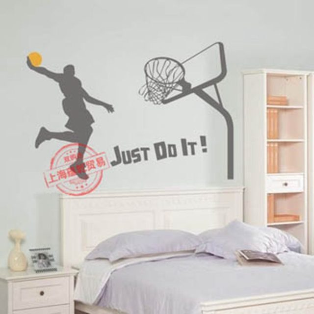 Basketball Player Sticker Decal Sports Posters Home Decoration Vinyl Wall Decals Decor Mural Dunk Wall Car Decal