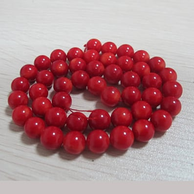 Free Shipping,Wholesale Natural Sea Bamboo Stone 8mm Red Coral Loose Beads Accessories For Diy Women Jewelry Making