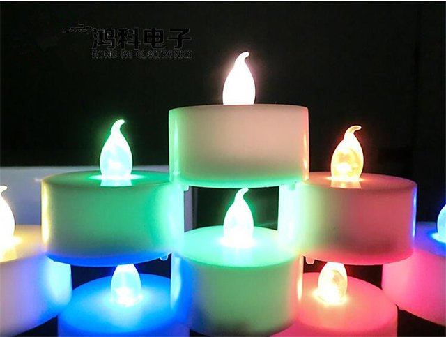 12pcs / lot Flickering Light Flameless LED Tea light Flicker Tea Candle Light Xmas Party Wedding Candles Safety Home Decor