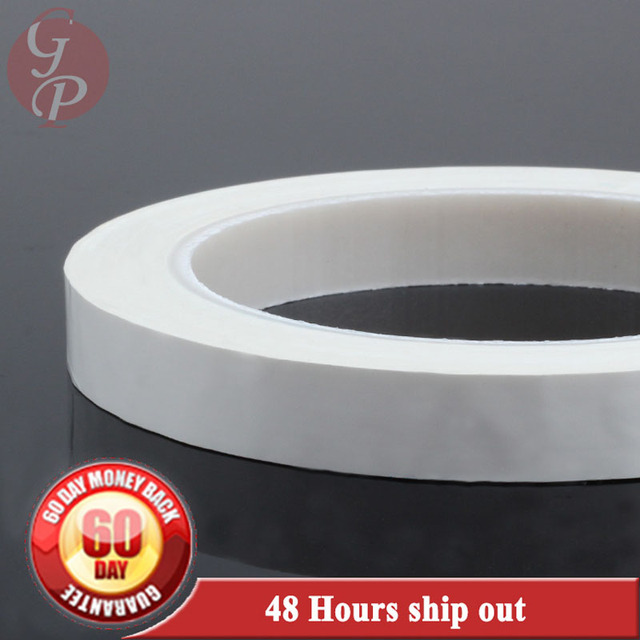 2x 16mm*66M*0.06mm PET High Temperature Insulating Anti-Flame Adhesive Mylar Tape for Transformer Coil WHITE #C1337