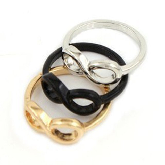 New Fashion jewelry Infinity symbol finger ring mix color wholesale R495