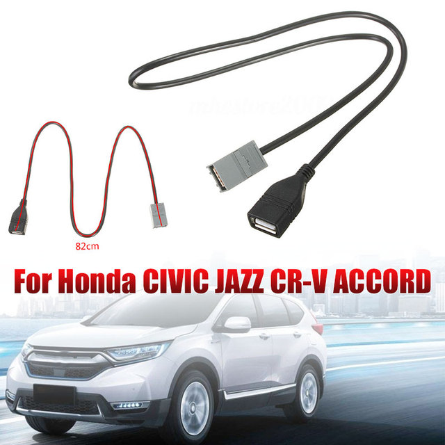 Female Port Professional Connector Cable Automobile Tools Cable Replaceable Cable AUX USB Cable Adapter for Honda