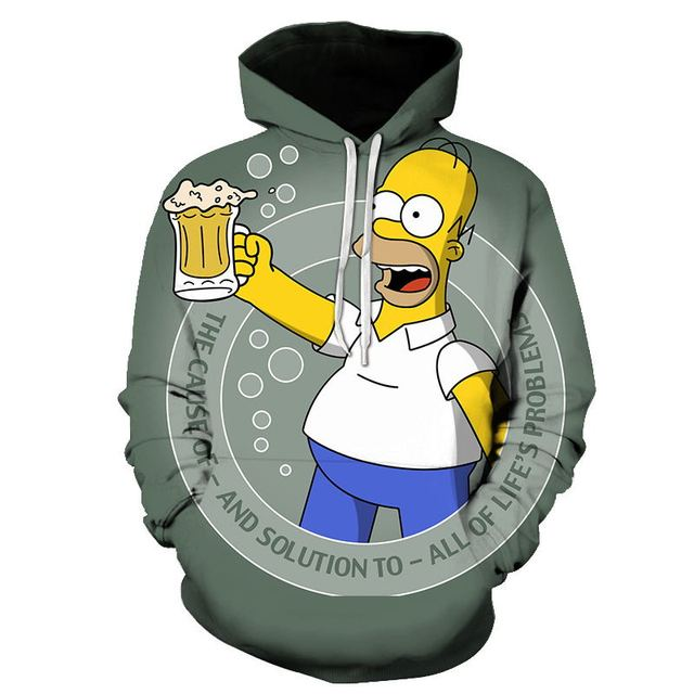 Simpson Printed 3D Men Women Hoodies 6XL Sweatshirts Quality Hooded Jacket Novelty Streetwear Fashion Casual Pullover Coat Tops