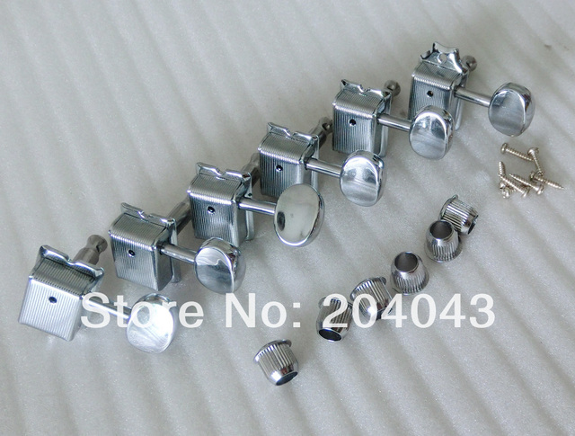 Sell Free Shipping Chrome Vintage guitar keys kluson guitar tuners fit for 8MM machine heads holes