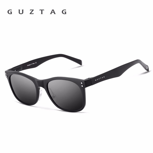 GUZTAG HD Polarized Mirror UV400 Unisex Aluminum Square Men Sun Glasses Eyewear Sunglasses Women For Men oculos de sol G9201