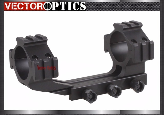 RifleScope 35mm One Piece Tri Rails Cantilever Offset Weaver Mount Rings Long See Through Type Free Shipping
