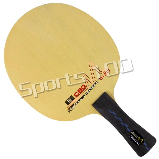 DHS DM C80 Fitted play  Attack Table Tennis PingPong Blade Shakehand-FL Long Handle