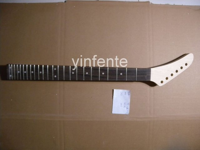 New High Quality Unfinished electric guitar neck Solid wood Body &  fingerboard  model 1pcs #10