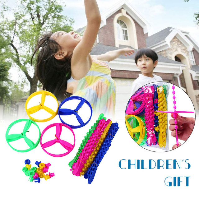 Fly fairy Manual UFO 40pcs Plastic Toys Fashionable Collection Creative Model Flying Fairy Decroration Drop Shipping
