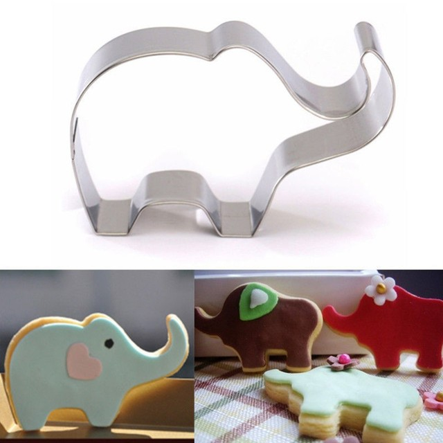 XIBAO 1pc Cookie Mold Stainless Steel Elephant Shape Cake Fondant Mold Cookie Cutter Kitchen Accessories  MK1613
