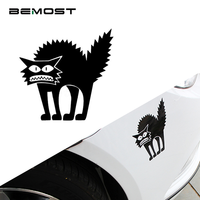 BEMOST Funny Halloween Thriller Cat Animal Vinyl Decal Car-Styling Car Sticker Decoration Auto Accessories Free Shipping 5pcs