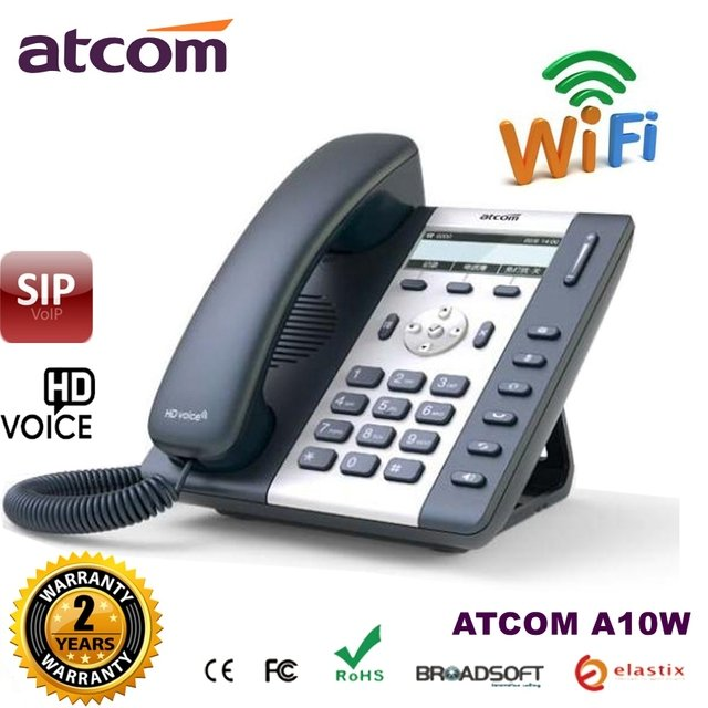 ATCOM A10W Wireless VOIP SIP Phone 3 SIP lines Business WIFI IP telephone for SOHO office