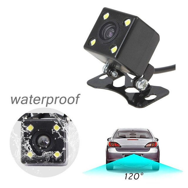 Car Rear Camera Accessories Angle Cars Universal HD Wide Rearview 720P IP67 4LED Photography Recorder Viewing Monitor