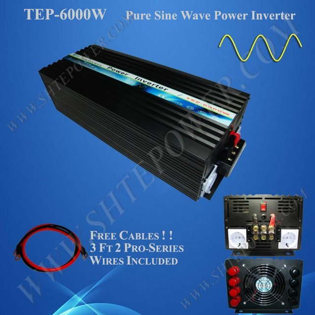 6KW 6000W Solar Inverter for Solar Home System with DC 12V input and AC 220V output