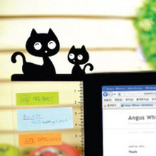 Transparent Lovely Animal Plastic Message Board Monitor Message Memo Board for Sticky Notes Tabs Phones Computer PC