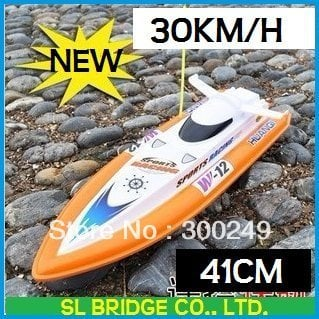 Free Shipping RC Boat 41cm R/C Racing Boat RC Electric Radio Remote Control Speed Ship rc Toys boats(HQ-951-10)   H10814SL