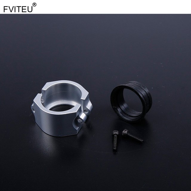 FVITEU CNC Alloy Clamp kit fit Exhaust Pipe for 1/5 HPI Baja 5b ss 5t 5sc Rovan King Motor