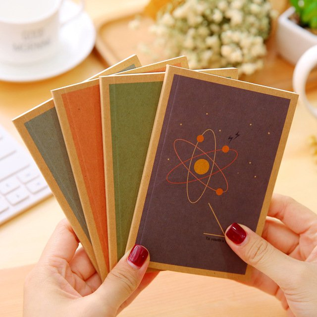 3 Series Blank Kraft Paper Notebook Notepad Sketchbook Diary Journal Paint Drawing Pattern Diary Notebook agenda 2017