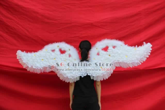 EMS Free shipping New arrival large nice angel feather wings for catwalk show party Special bithday gift 190*55cm blue white