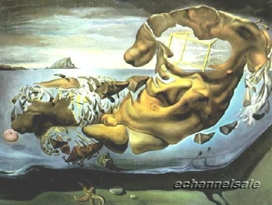 Free Shipping - Salvador Dali Repro Surrealism oil painting Rhinocerotic Disintegration of Illissus of Phidias 1954