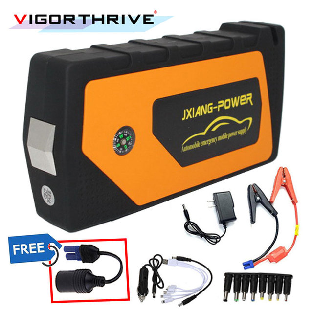 High Quality Portable Car Jump Starter Emergency Starting Device 12V Power Bank Car Charger For Car Battery Booster Output