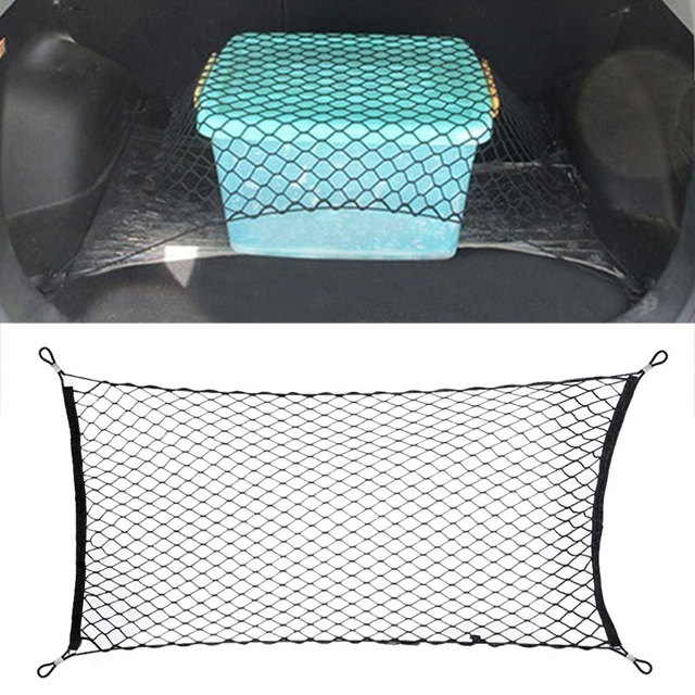 Nylon Cars Mesh Storage Nets Durable Carriage Trunk Net Universal Rear Luggage Nets Organizer