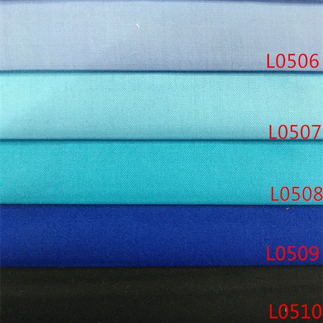 Cotton polyester cotton shirt fabric cloth color dyed shirts cloth and high-density manual DIY