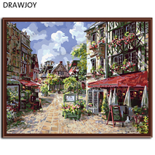 Frameless Picture Painting By Numbers DIY Canvas Oil Painting Wall Decor For Living Room Home Decor France Town G042
