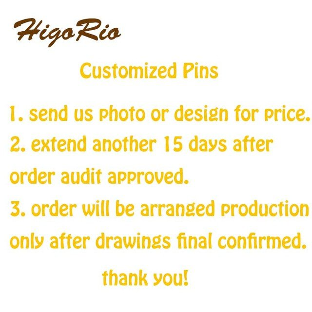 HigoRio Factory Customized Metal Enamel Lapel Pins and Badges Brooch MOQ100pcs/Design for a Start