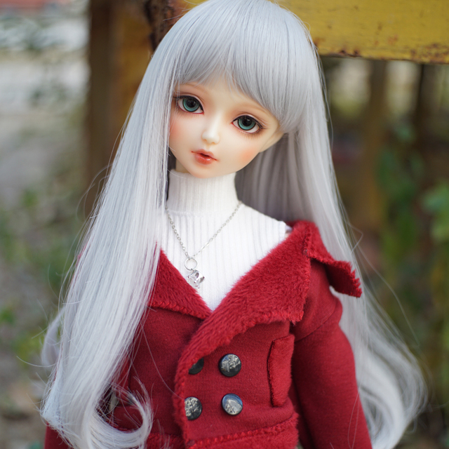 1/3 1/4  1/6 1/8 Bjd Wig Sliver Grey Bjd Wig SD High Temperature Wire For BJD Doll Hair