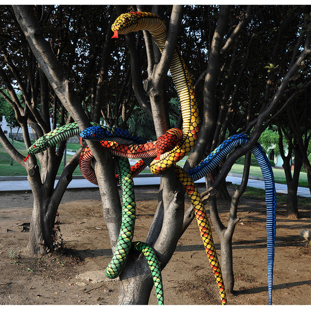 280cm Big  Size Snake Plush Toy The Simulation Snake Soft Stuffed Toys Bithday Gift Wholesale and Retails Factory supply