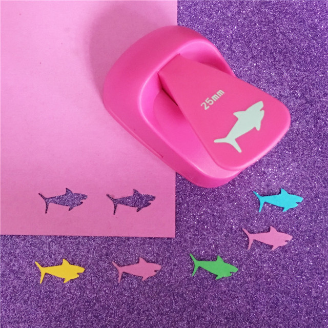 Free Shipping M size shark shape save power paper/eva foam craft punch Scrapbook Handmade punchers DIY hole punches fish puncher