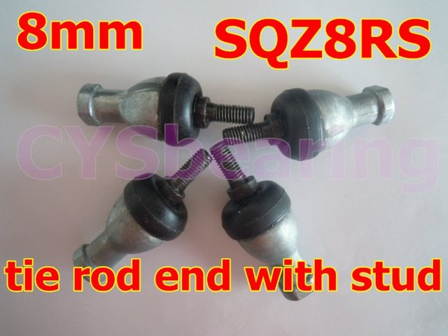 8mm SQZ8RS M8X1.25 spherical plain bearing rod ends with ball stud winding  ball joint rod ends with right or left hand thread
