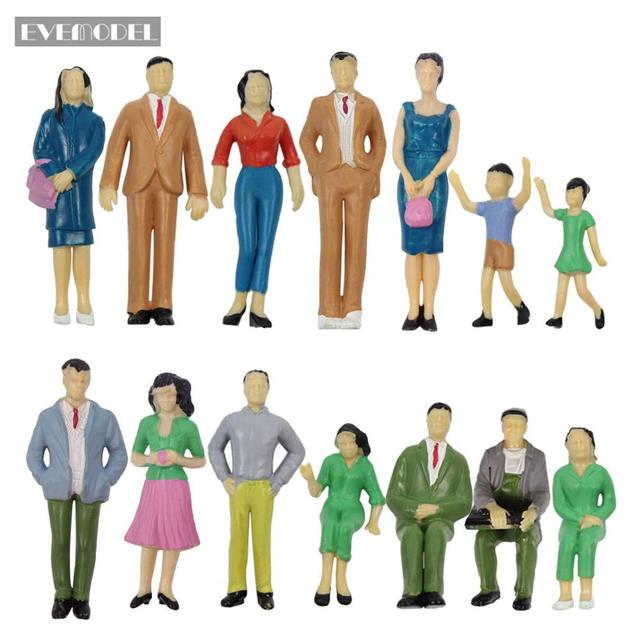 P2501 Model Trains 1:25 Painted Figures G SCALE People Standing Seated Adult Chid