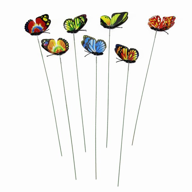 on Sticks Lawn Decoration Garden Ornament Beautiful Creative Lawn Craft 3D Butterfly Garden Decor for Gardening Drop Shipping